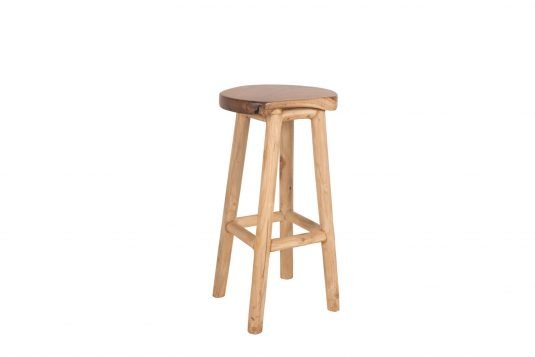 Picture of bar stool with protective wood finishing