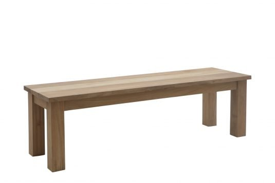 Picture of backless garden bench with fine sanded wood finishing