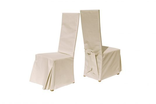 Picture of chair cover with natural fabrics