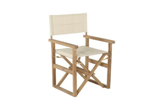 Picture of director's chair from side