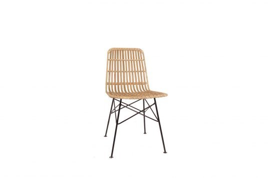 Picture of dining chair with natural rattan