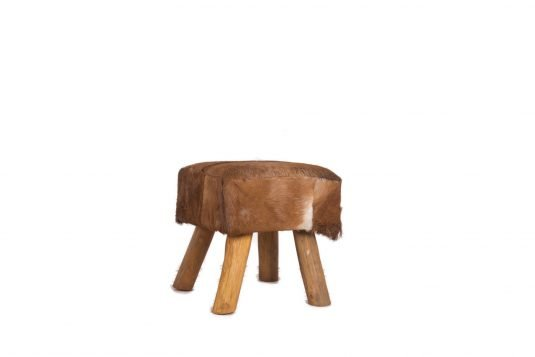 Picture of square stool with leather