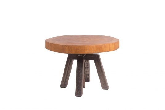 Picture of round side table from front