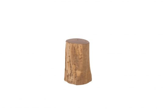 Picture of log stool small from front