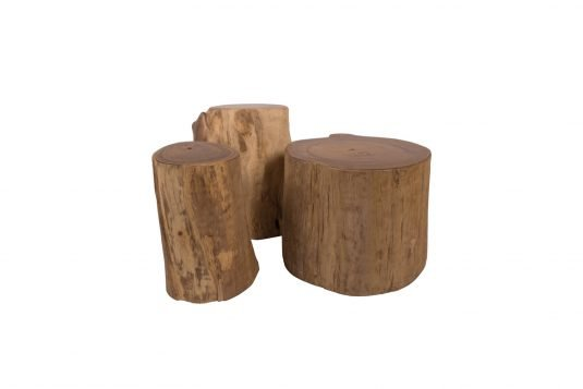 Picture of log stool small with protective wood finishing