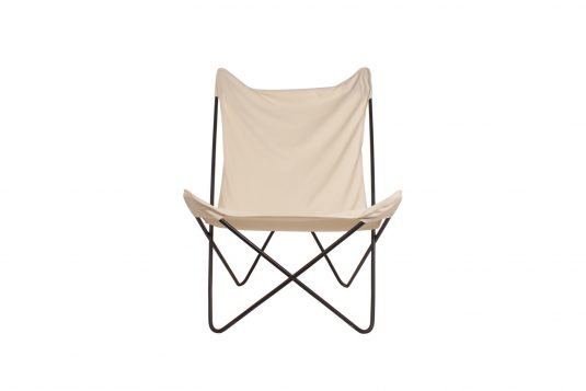 Picture of butterfly chair with natural fabrics