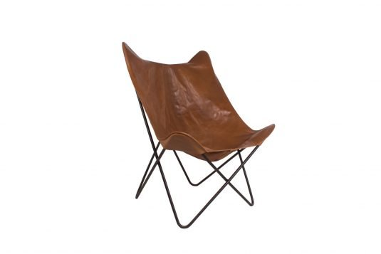 Picture of butterfly chair from side