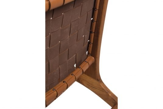 Picture of deckchair with cognac color leather