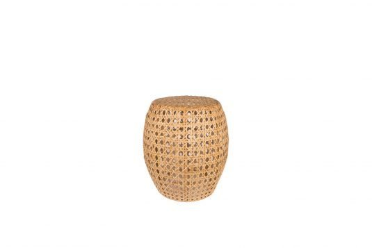 Picture of round side table / stool with natural rattan finishing