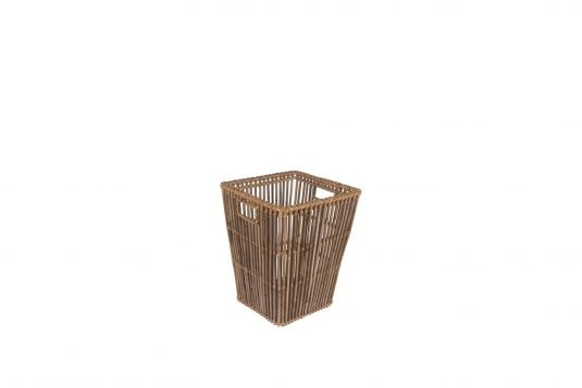 Picture of patio basket with natural rattan finishing from side