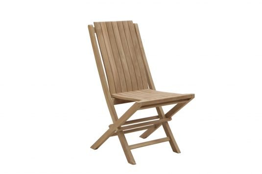Picture of folding dining chair with fine sanded wood finishing