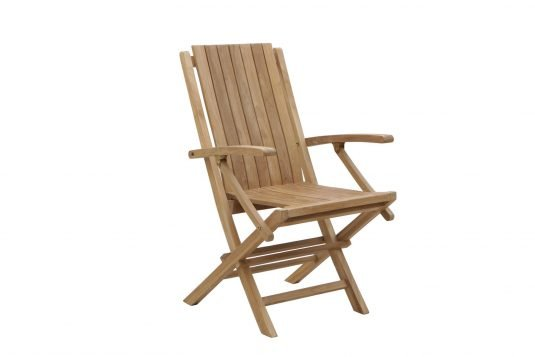 Picture of folding dining armchair from side