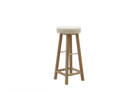 Picture of bar stool with fine sanded wood finishing