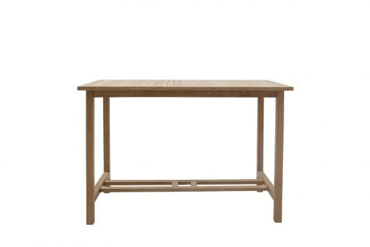 Picture of rectangular bar table with fine sanded wood finishing