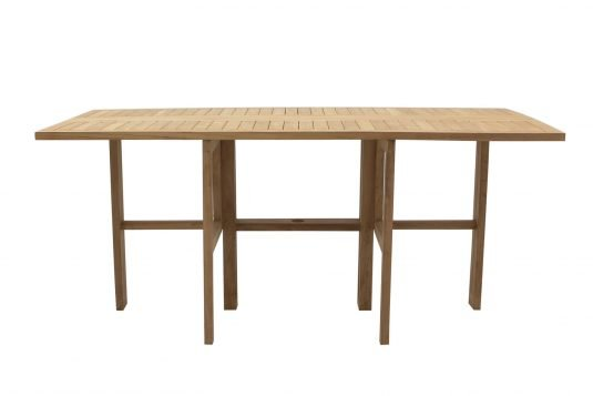 Picture of gateleg rectangular dining table from front