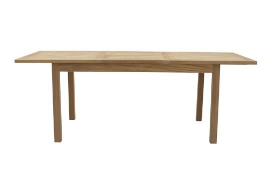 Picture of rectangular extendible dining table with fine sanded wood finishing
