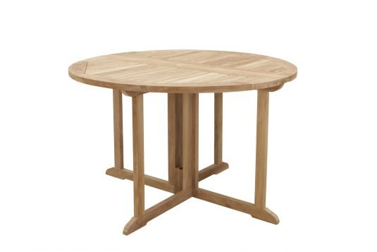 Picture of gateleg round dining table with fine sanded wood finishing