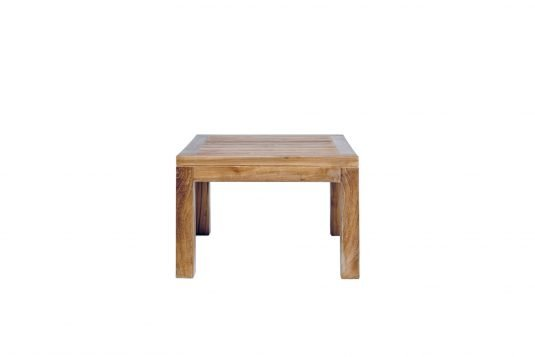 Picture of square side table with fine sanded wood finishing