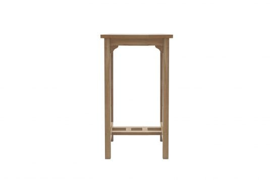 Picture of square bar table from front