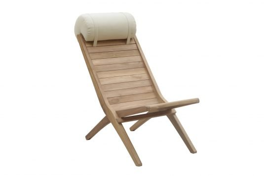Picture of deckchair with head pillow