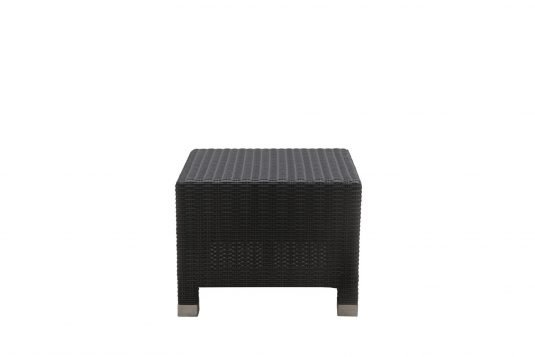 Picture of square side table with banana leaf rattan