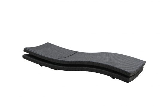 Picture of folding sunlounger with synthetic rattan