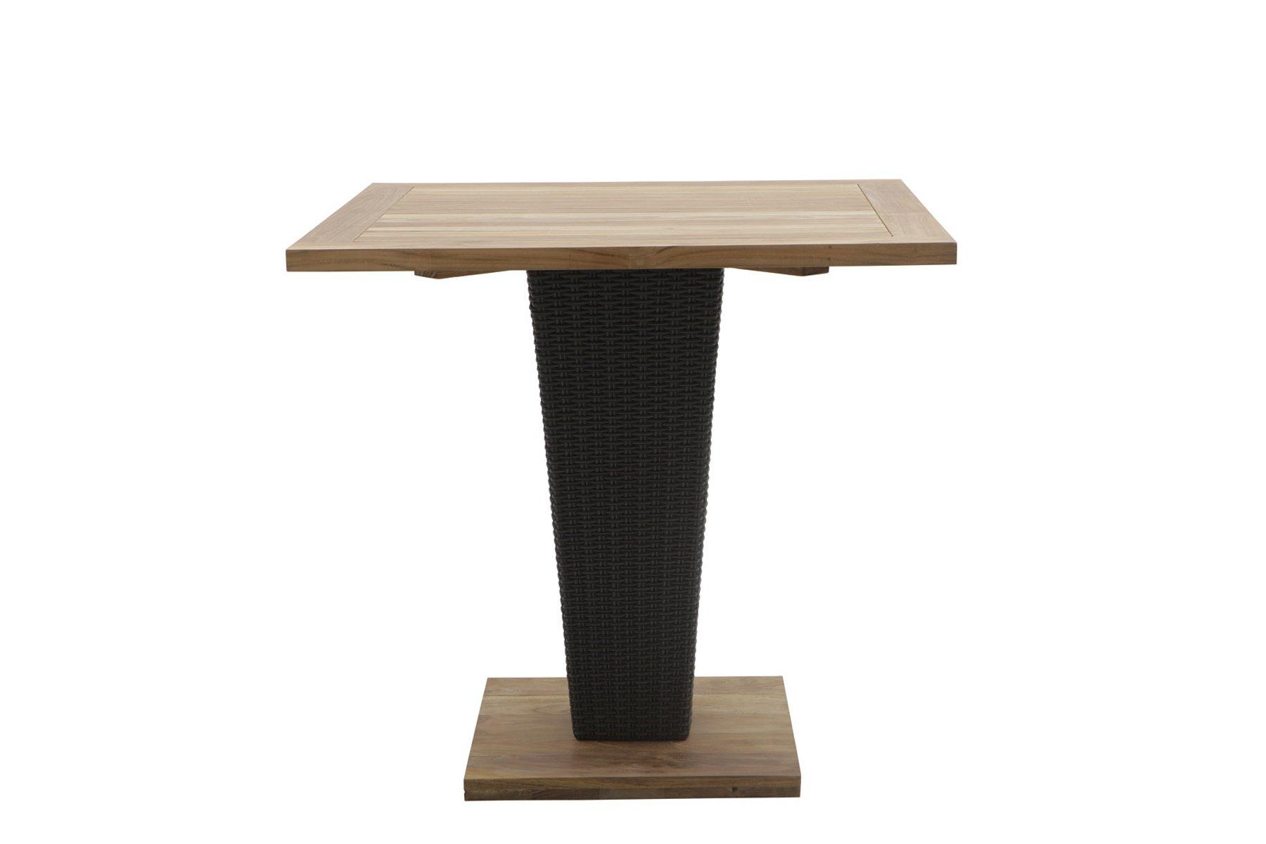 Tavolo Con Gamba Centrale tavolo quadrato a piede centrale sentosa – il giardino di legno