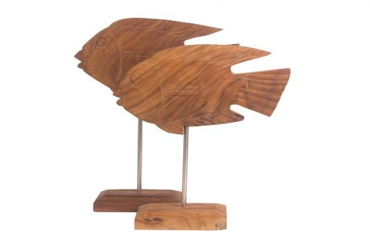 Picture of teakwood decorative object with oiled wood finishing