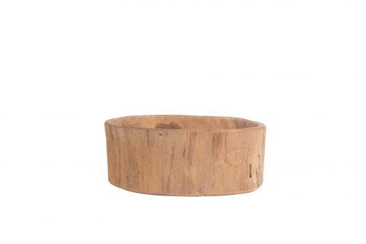 Picture of natural teakwood centerpiece small with fine sanded wood finishing