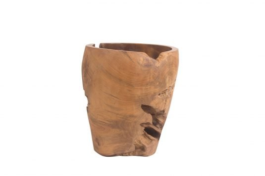 Picture of decorative object / vase with java brown and wax wood finishing