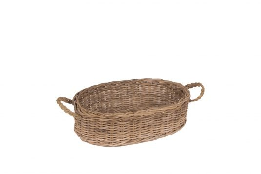 Picture of rattan basket from side
