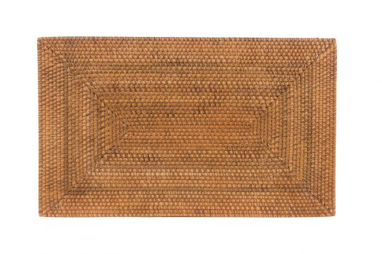 Picture of rattan placemat from front