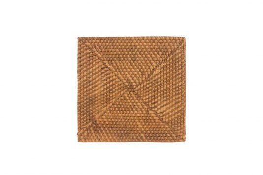Picture of rattan square placemat from front