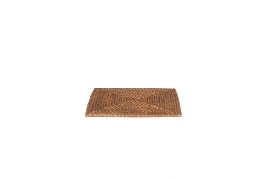 Picture of rattan square placemat with natural rattan finishing