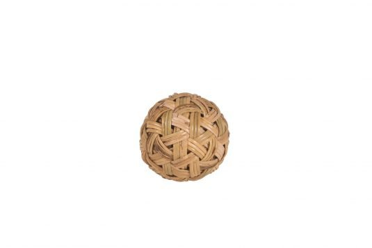 Picture of decorative object ball rattan small with natural rattan finishing