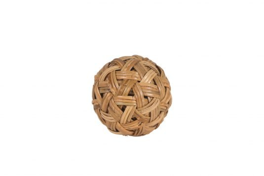 Picture of decorative object medium with natural rattan finishing