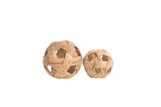 Picture of decorative object small and medium with natural rattan finishing