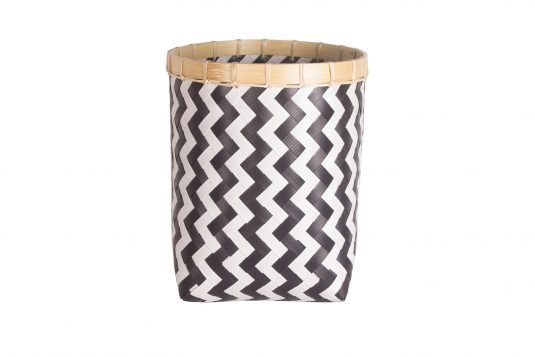 Picture of weaved basket with two colour