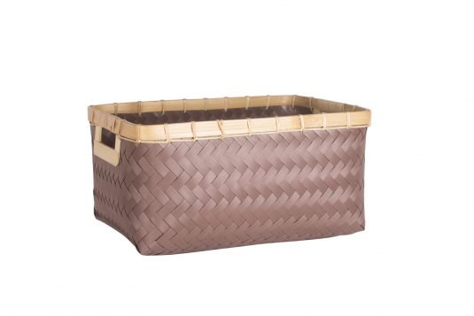 Picture of weaved basket with handles from side