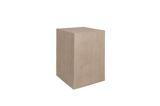 Picture of square side table / stool with cement