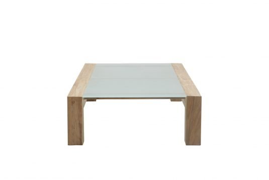 Picture of rectangular coffee table with glass on top