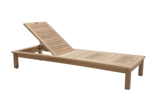 Picture of sunlounger with double back and wheels