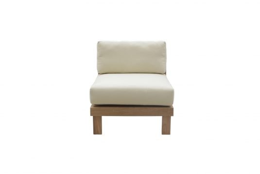 Picture of lounge chair middle unit with fine sanded wood finishing