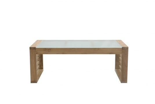 Picture of rectangular coffee table with glass