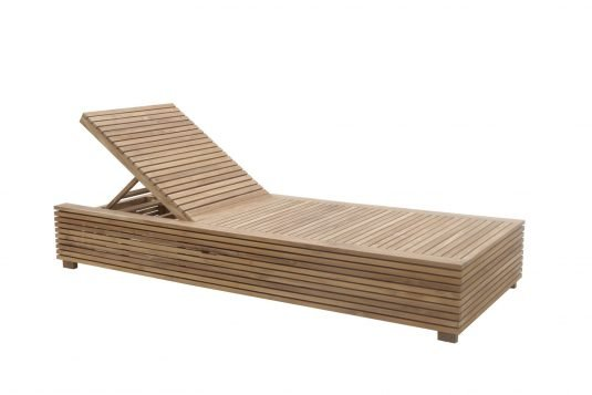 Picture of sunlounger with tray with fine sanded wood finishing