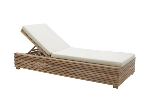 Picture of sunlounger with tray with cushion