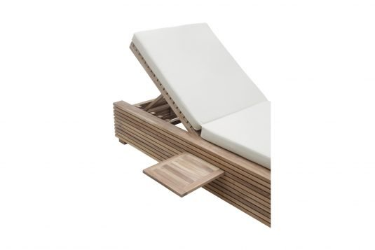 Picture of sunlounger with tray from side