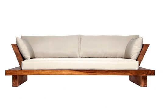 Picture of sofa suar with oiled wood finishing
