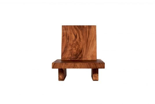 Picture of low dining chair with oiled wood finishing