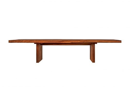 Picture of low dining table with oiled wood finishing